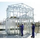 cobertura com estrutura metálica preço m2 Parque São Lucas