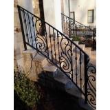 corrimão de ferro para escada externa Jardim Guarapiranga