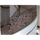 corrimão de ferro para escada interna Pompéia