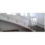 encomenda de corrimão de ferro para escada Vila Clementino