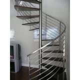 escada caracol aço Louveira