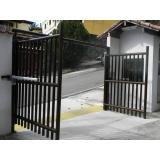 portões automático pivotante Americana